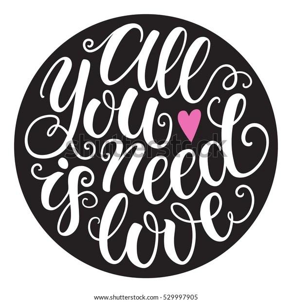 Download All You Need Love Doodle Hand Stock Vector (Royalty Free ...