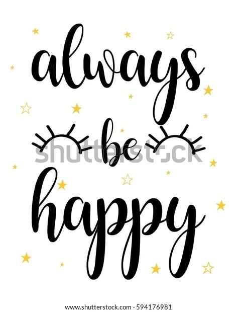 always be happy typography