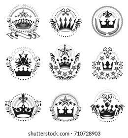 Similar Images, Stock Photos & Vectors of Crowns Set