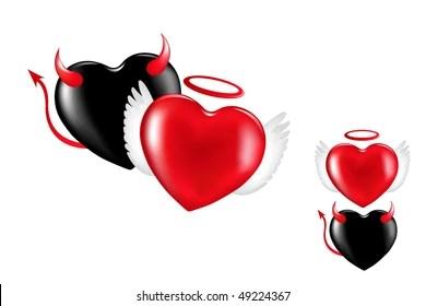 devil heart images stock