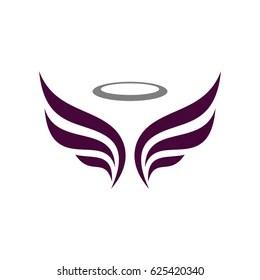 angel logo images stock
