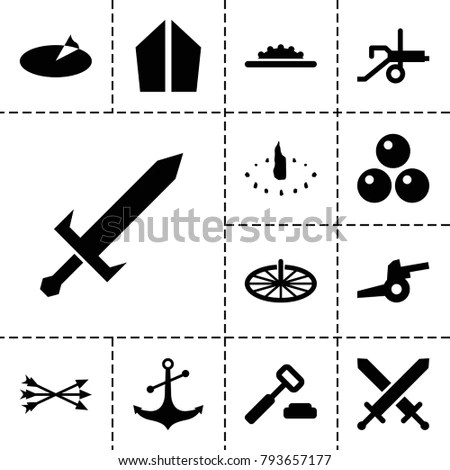 antique icons set 13
