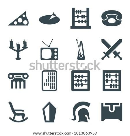 antique icons set 16