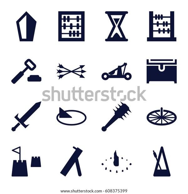 antique icons set set
