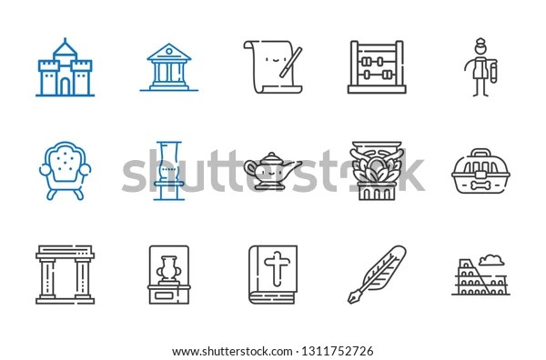antique icons set collection