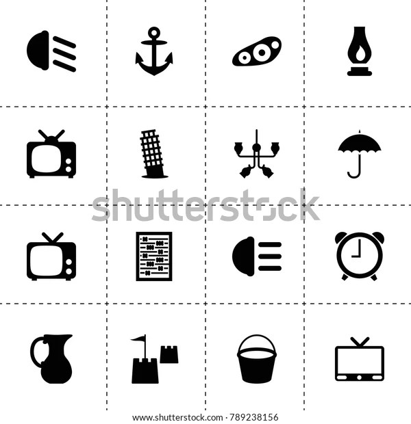 antique icons vector collection