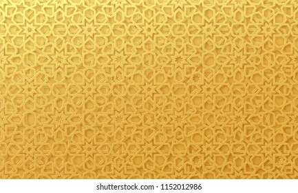 gold background islamic pattern