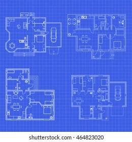 house blueprint images stock