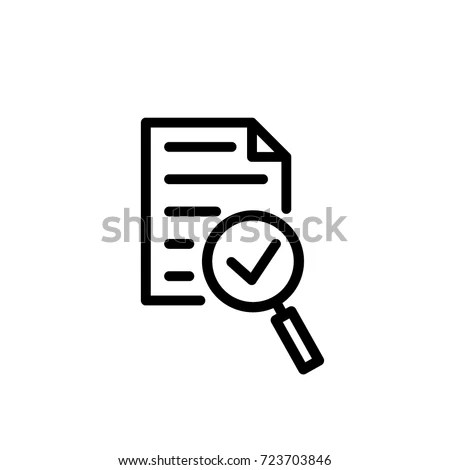 Audit Icon Vector Stock Vector (Royalty Free) 723703846