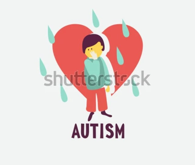 Autism Early Signs Of Autism Syndrome In Children Vector Emblem Children Autism Spectrum