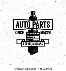 Auto Parts Logo Design Concept Images, Stock Photos