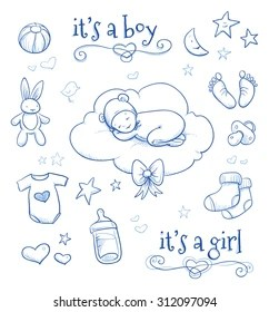 drawing baby feet images