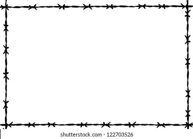 Barbed Wire Border Images, Stock Photos & Vectors