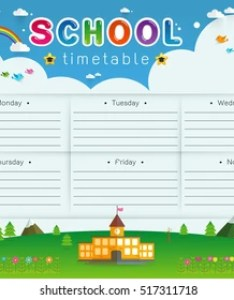 Background frame design of school timetable scheduleweekly vector illustration also images stock photos  vectors shutterstock rh