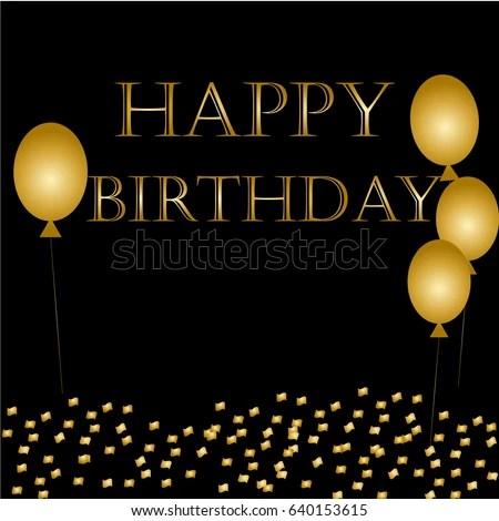 balloons happy birthday black