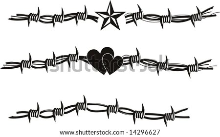 Barbed Wire Vector Tattoo Stock Vector (Royalty Free