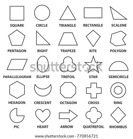 Basic Geometric Shapes Advance Mathematical Concepts Stock