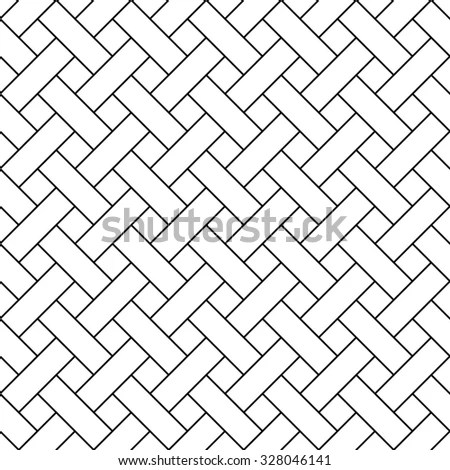 Basket Weave Pattern Vector 스톡 벡터(사용료 없음) 328046141
