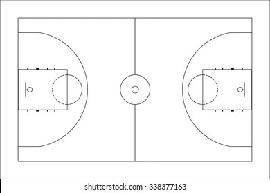 Black and White Basketball Court Stock Vectors, Images