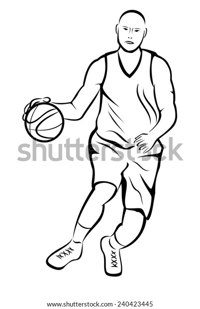 Basketball Player Action Stock Vector (Royalty Free) 240423445
