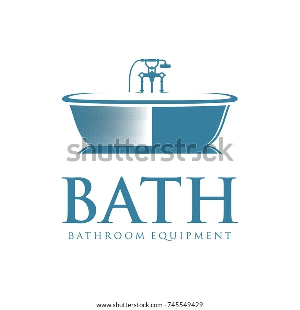 Bath Logo Bathroom Equipment Stock Vector Royalty Free 745549429