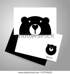bear logo identity card template bear mascot idea for logo emblem symbol [ 1000 x 1000 Pixel ]
