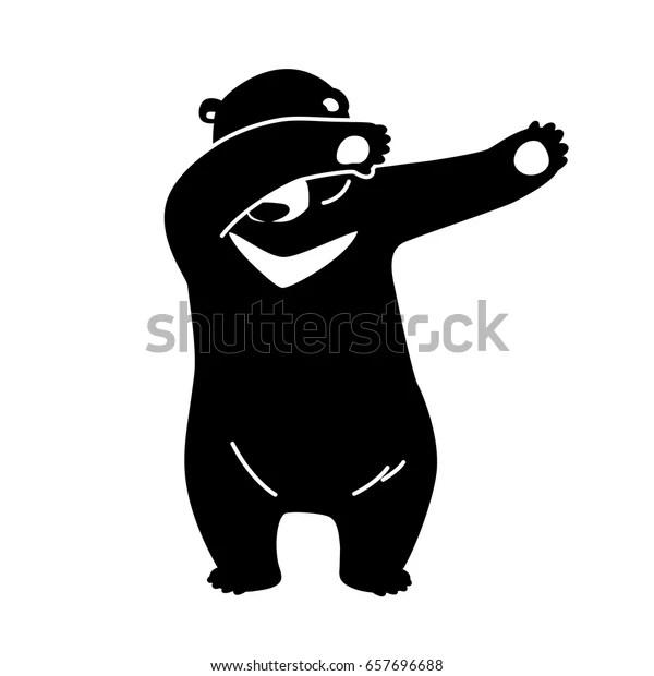 bear polar bear dab