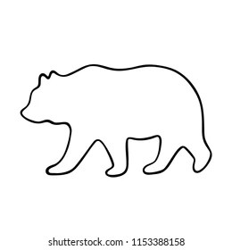 bear outline images stock
