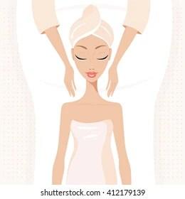 massage cartoon images stock