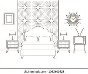 Bedroom Coloring Page Images Stock Photos & Vectors Shutterstock