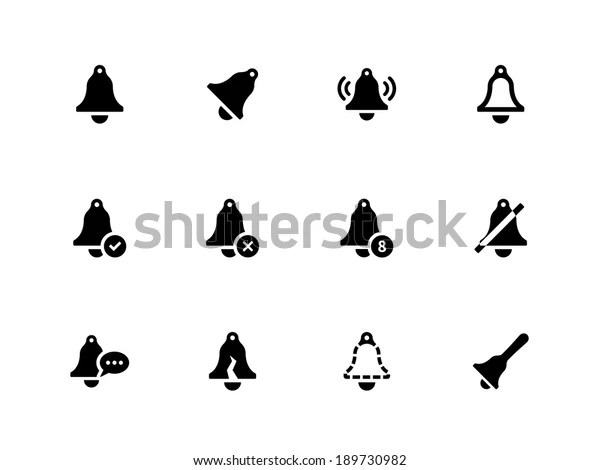 Bell Icons On White Background Vector Stock Vector