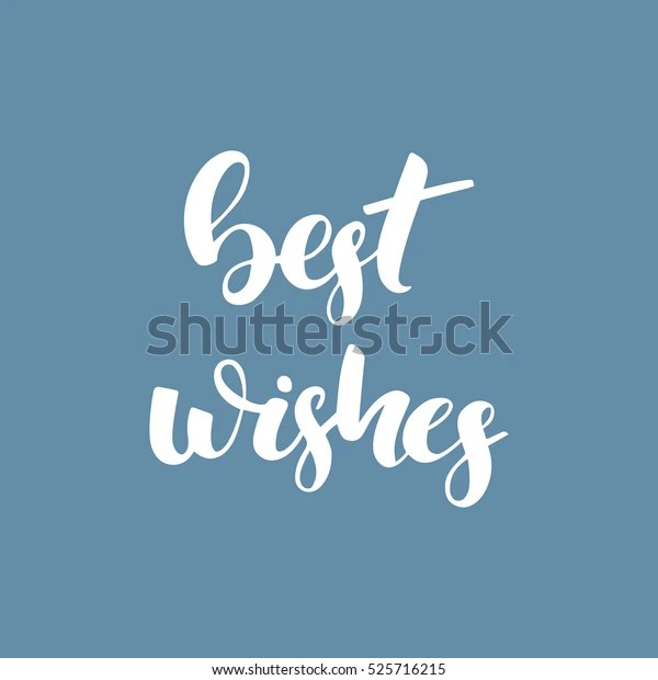 best wishes calligraphy poster