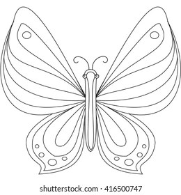 Butterfly Outline Images, Stock Photos & Vectors