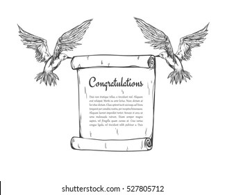 Bird Carrying Letter Images, Stock Photos & Vectors