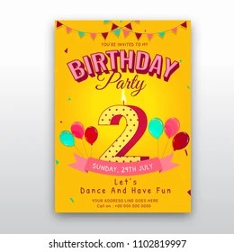 https www shutterstock com image vector birthday card invitation template number 2 1102819997