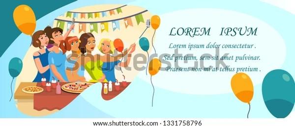 https www shutterstock com image vector birthday party invitation template copyspace women 1331758796