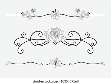 scroll border images stock