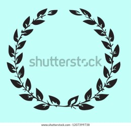 Black Leaf Circle Oval Frame Vector Stock Vector Royalty Free 1207399738