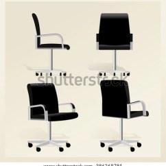 Office Chair Vector Baseball Bean Bag Target Black Leather Stock Royalty Free