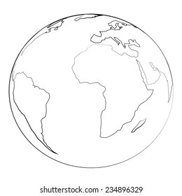 Earth Outline Stock Images, Royalty-Free Images & Vectors