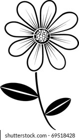 Black And White Daisy Images, Stock Photos & Vectors