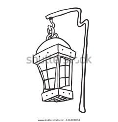 Black White Hanging Lamp Cartoon Stock Vector Royalty Free 426289084