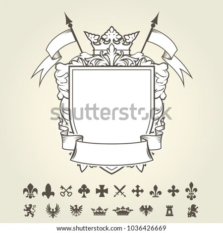 photograph regarding Coat of Arms Template Printable Free named Coat Of Fingers Template