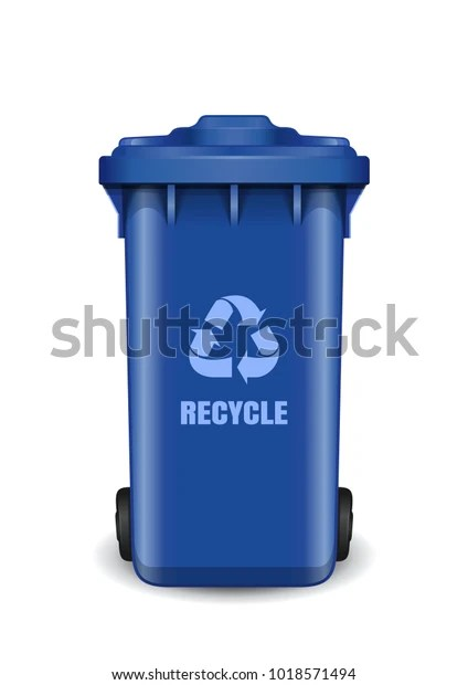 blue dumpster garbage can