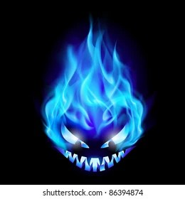 blue fire skull images