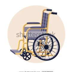 Yellow Wheelchair Posture Ball Office Chair Blue Vector Illustration Stock Royalty And
