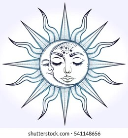 sun and moon images