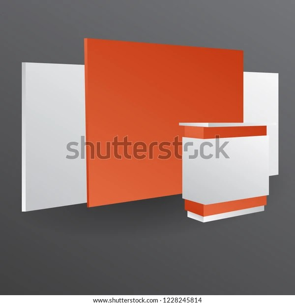 This outdoor kiosk advertisement mockup is available for free to download. Booth Kiosk Wall Front View Mockup Stock Vector Royalty Free 1228245814