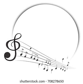 Music Notes Border Images, Stock Photos & Vectors