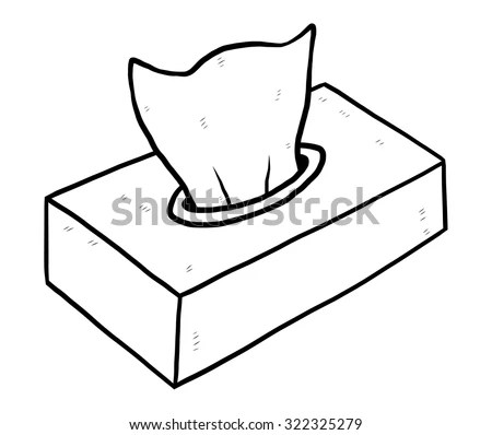 Box Tissue Paper Cartoon Vector Illustration Stock Vector